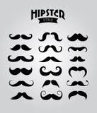 Moustaches de hippie Photos libres de droits