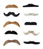 Moustaches isolati Fotografie Stock