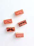 Moustaches rubber stamp. Movember men`s health awareness concept. Royalty Free Stock Images