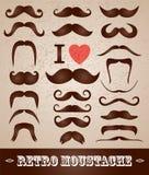 Moustaches set Stock Images