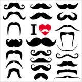 Moustaches set Royalty Free Stock Image