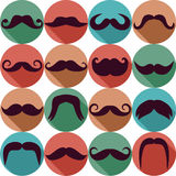Moustaches set. Royalty Free Stock Image