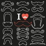 Moustaches set Royalty Free Stock Photo