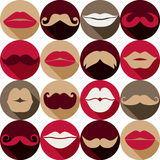 Moustaches set. Royalty Free Stock Photo