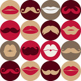 Moustaches set. Royalty Free Stock Photography