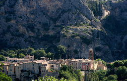 Moustier. Sainte marie, a cute village in provence Royalty Free Stock Images