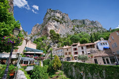 Moustiers. Ancient village of moustiers, france Stock Image