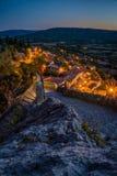 Moustiers Sainte Maria przy nocą Obrazy Stock