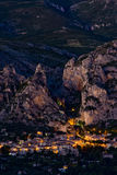 Moustiers Sainte Marie Stock Photography