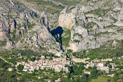 Moustiers Sainte Marie Stock Images