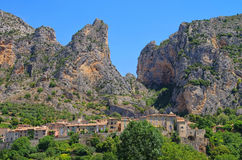 Moustiers-Sainte-Marie Stock Photo
