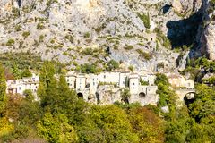 Moustiers Sainte Marie, Alpes-De-Haute-Provenceabteilung, Frankreich lizenzfreie stockbilder