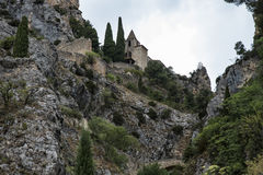 Moustiers Sainte Marie (Frankreich) lizenzfreie stockfotografie