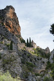 Moustiers-Sainte-Marie (Frankrike) Royaltyfri Fotografi