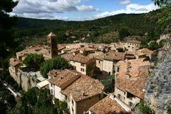 Moustiers Sainte Marie i Provence Arkivfoto