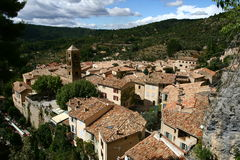 Moustiers Sainte Marie in Provence Stockfoto
