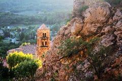 Moustiers-Sainte-Marie, Provence, França imagem de stock