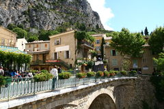 Moustiers Sainte Marie in Provence Stock Images