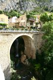 Moustiers Sainte Marie in Provence Stock Image