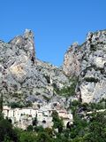 Moustiers St Marie. View towards pictoresque Moustiers St Marie located in the Provence in France Royalty Free Stock Photo
