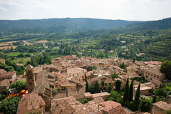 Moustiers-Ste-Marie. A typical french village Stock Image