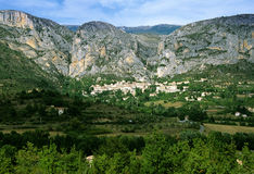 Moustiers ste marie Stock Photo
