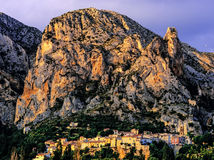 Moustiers ste marie. Village provence alpes du haute provence south of france europe Royalty Free Stock Images
