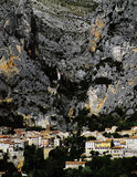 Moustiers ste marie. Village provence alpes du haute provence south of france europe Stock Images