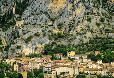 Moustiers ste marie. Village provence alpes du haute provence south of france europe Royalty Free Stock Image