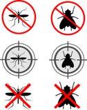 Moustiques et mouches Photographie stock