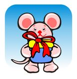Mousy And Gift Royalty Free Stock Images