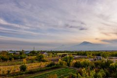 Mout阿勒山看法从亚美尼亚的 免版税图库摄影