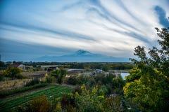 Mout阿勒山看法从亚美尼亚的 图库摄影