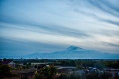 Mout阿勒山看法从亚美尼亚的 库存图片