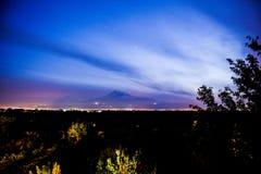Mout阿勒山看法从亚美尼亚的 免版税库存照片