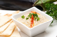 Moutabal baba ghanoush eggplant dip Royalty Free Stock Images