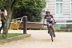Moutain自行车种族 图库摄影