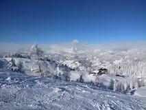 Moutain in Österreich stockbild
