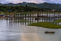 Moutain и небо в Таиланде Стоковые Изображения RF