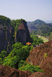 Moutain. Wuyi moutain ,a famous tourist attaction in fujian province Stock Image