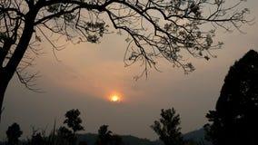 Moutain au coucher du soleil Photo libre de droits
