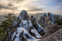 Moutain at autumn winter in Slovakia Stock Image
