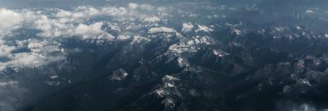 moutain chmurny od skyview Fotografia Royalty Free