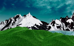 moutain 3d Royaltyfri Fotografi
