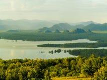 Moutain en reservoir Stock Foto