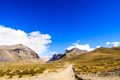 Moutain Kailash. Tarboche of Mount Kailash (Gang Rinpoche, Tibet Royalty Free Stock Photos