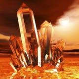Moutain kristall royaltyfri illustrationer