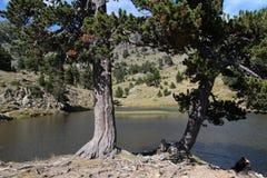 Moutain lake. Achard mountain lake near Chamrousse resort Royalty Free Stock Image