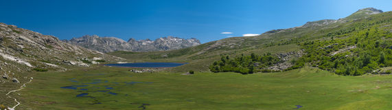 Moutain lake in France. Lake in the moutains of corsica in France Stock Image