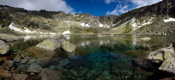 Moutain lake with pure water Stock Photos